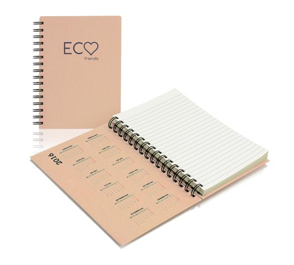 PM300_A5-ECO Wire-o notesblok med hårdt omslag ECO
