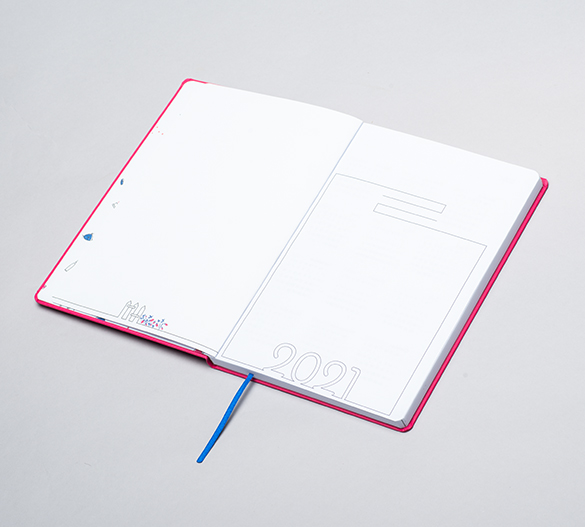 MN35-CAL-ROMA Mindnotes® dagbøge med flexi hårdt omslag med ROMA